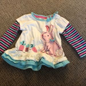 🌺5 for 15! Stripped bunny long sleeve shirt
